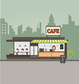 Coffee shop concept and create character vector image