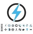Electricity Flat Icon With Bonus vector image