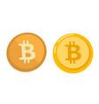 golden bitcoin coin symbol - cartoon vector image