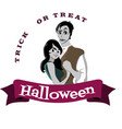 halloween gothic party with vampire couple fun vector image