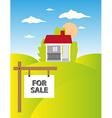 Land sale background vector image