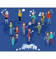 People use the Internet and gadgets Social vector image