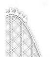 Rollercoaster cutout vector image