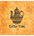 Coffee time background vector image