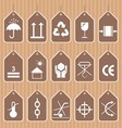 Packing and Shipping Symbols Set vector image