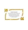 gold quotation mark speech bubble vector image