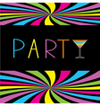 Colorful cocktail party card Martini glass vector image