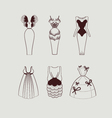 woman knee length dresses vector image vector image