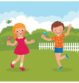 Funny kids happy summer vector image