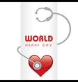 Creative World Heart Day Greeting vector image vector image