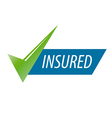 abstract icon for an insurance company vector image