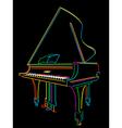 neon piano vector image