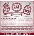 Set of Christmas ribbons vector image