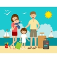 Family on vacation vector image vector image