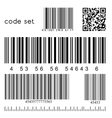 barcode set vector image