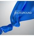Blue silk fabric vector image