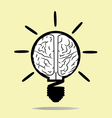 brain and idea vector image