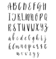 English Alphabet Handwritten Script Hand vector image