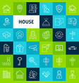 line house icons vector image