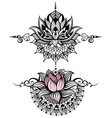 Lotus tattoo vector image