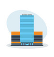 multi-storey business center building office vector image
