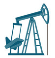 oil pump jack cartoon vector image