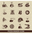 Pizza Maker Icon Black vector image