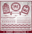 Set of Christmas ribbons vector image