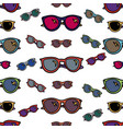 sunglasses seamless pattern vector image