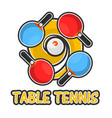 table tennis sport colorful logotype isolated on vector image