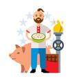 ukrainian industry livestock traditional vector image