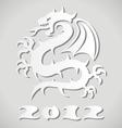 white paper dragon vector image