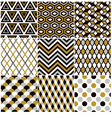 seamless gold geometric pattern vector image