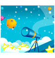 Telescope and Planets vector image
