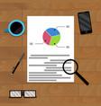 financial file on wood desk for presentation vector image