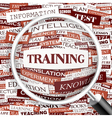 TRAINING vector image vector image