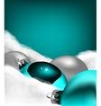 Xmas greeting card Christmas cyan toy vector image