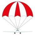 aircraft insurance vector image vector image