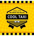 Taxi symbol with checkered background - 16 vector image vector image