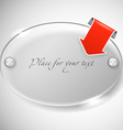Ellipce advertising glass board vector image