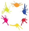 Frame from color blots vector image vector image