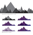 Mountains icons vector image