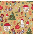 Christmas vintage pattern New year whimsical vector image