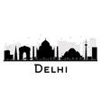 Delhi silhouette vector image