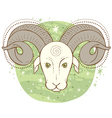 aries zodiac sign vector image