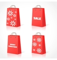 Christmas shopping bsg vector image