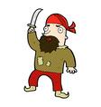 comic cartoon pirate vector image