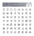 device line icons set vector image
