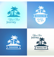 Emblems with Tropical Island vector image