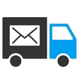 Mail Delivery Van Flat Icon vector image